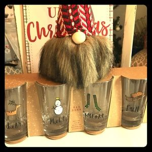 Other - Rae Dunn Christmas glasses NEW set of 4
